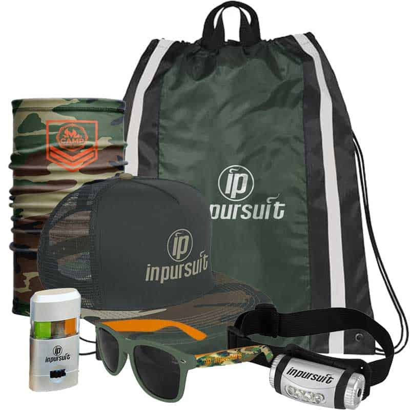Image of a custom summer camp camper pack.