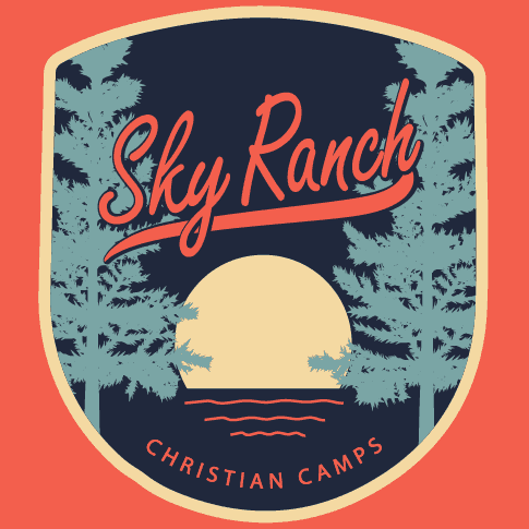 Summer Camp T-Shirt Design for Sky Ranch